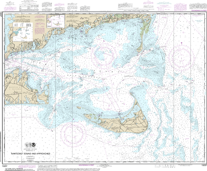 NOAA Nautical Chart 13237: Nantucket Sound and Approaches