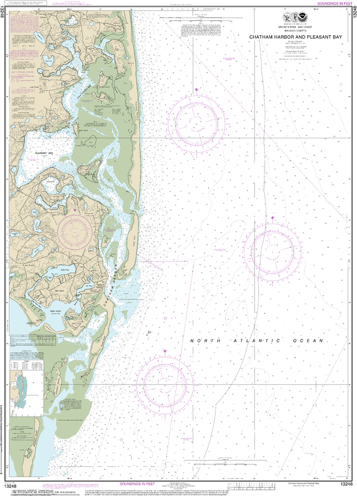 NOAA Nautical Chart 13248: Chatham Harbor and Pleasant Bay