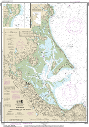 NOAA Nautical Chart 13253: Harbors of Plymouth, Kingston and Duxbury; Green Harbor