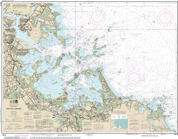 NOAA Nautical Chart 13270: Boston Harbor
