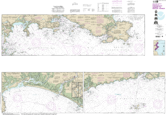 NOAA Nautical Chart 13274: Portsmouth Harbor to Boston Harbor; Merrimack River Extension