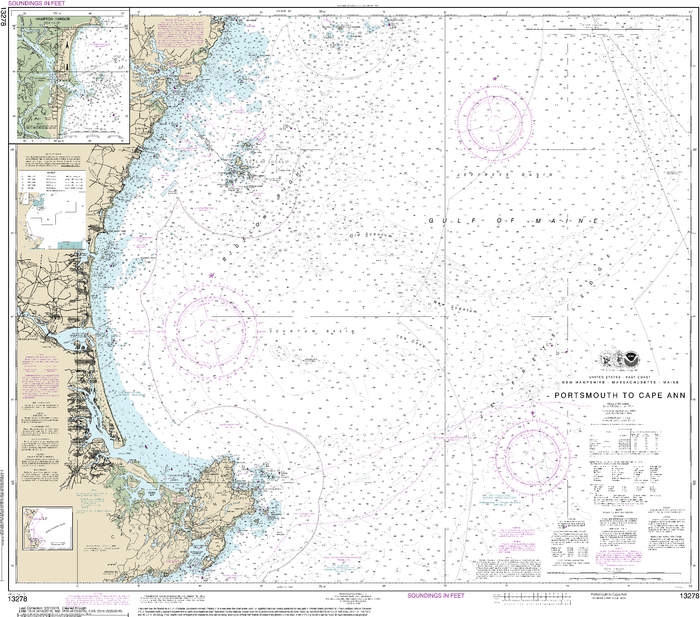NOAA Nautical Chart 13278: Portsmouth to Cape Ann; Hampton Harbor