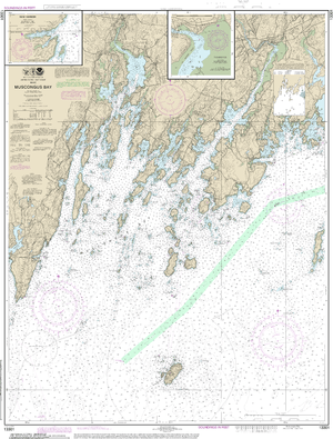 NOAA Nautical Chart 13301: Muscongus Bay;New Harbor;Thomaston