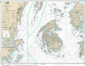 NOAA Nautical Chart 13305: Penobscot Bay;Carvers Harbor and Approaches