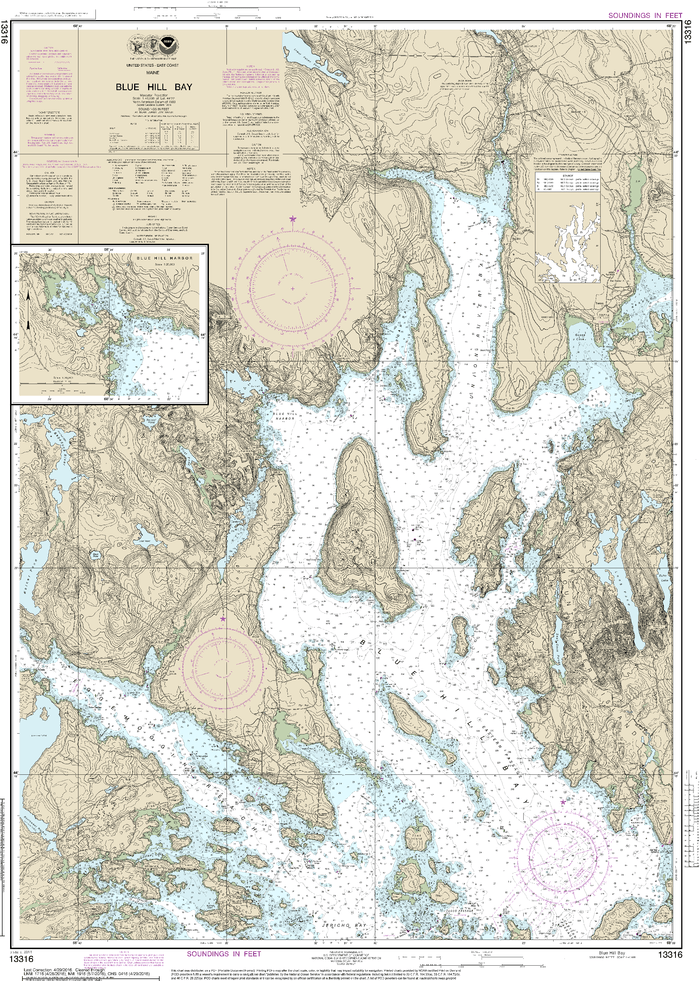 NOAA Nautical Chart 13316: Blue Hill Bay;Blue Hill Harbor