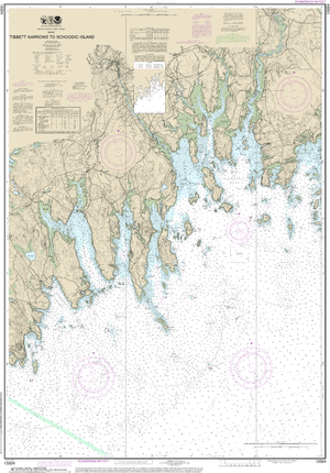 NOAA Nautical Chart 13324: Tibbett Narrows to Schoodic Island