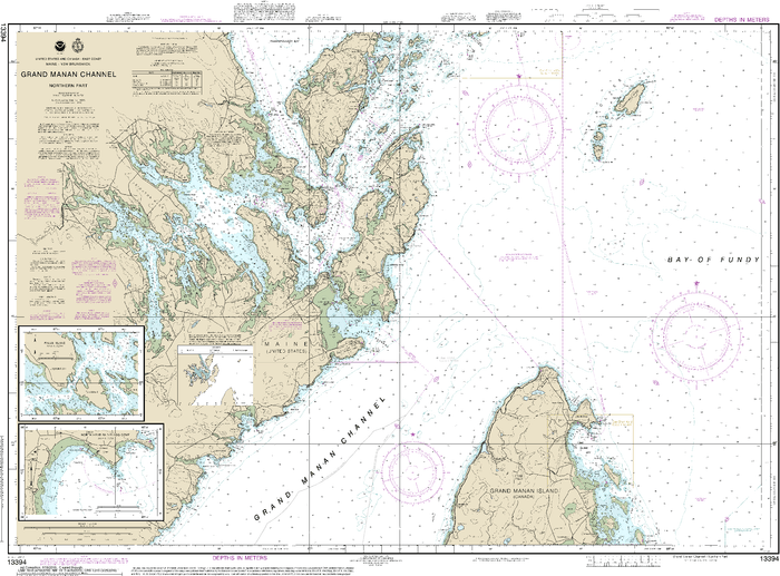 NOAA Nautical Chart 13394: Grand Manan Channel Northern Part; North Head and Flagg Cove