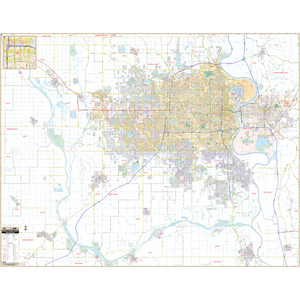 Omaha, Ne Wall Map - Large Laminated