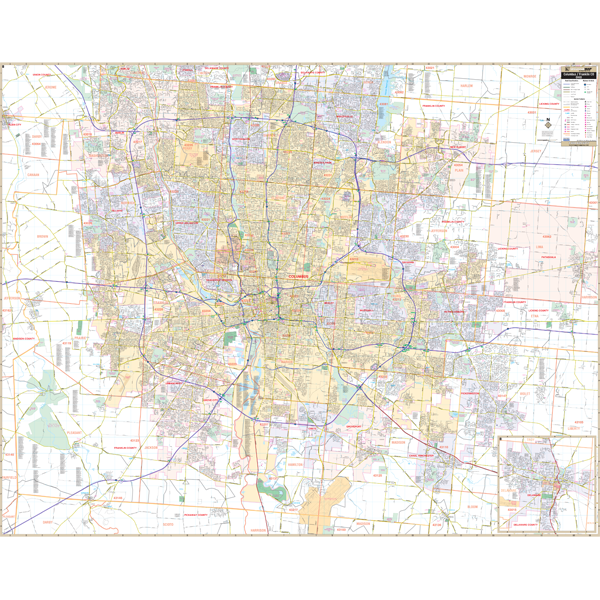 Columbus and Franklin Co, OH Wall Map