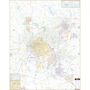 Greenville, Sc Wall Map - Large Laminated