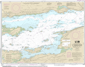 NOAA Nautical Chart 14771: Butternut Bay, Ont., to Ironsides l., N.Y.