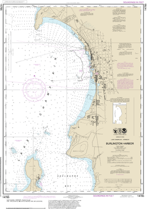 NOAA Nautical Chart 14785: Burlington Harbor