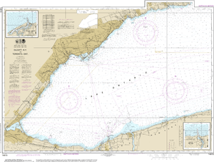 NOAA Nautical Chart 14810: Olcott Harbor to Toronto; Olcott and Wilson Harbors