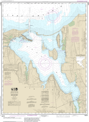 NOAA Nautical Chart 14814: Sodus Bay