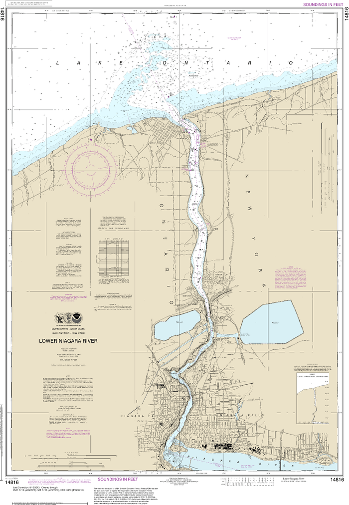 NOAA Nautical Chart 14816: Lower Niagara River