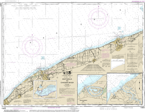 NOAA Nautical Chart 14825: Ashtabula to Chagrin River;Mentor Harbor;Chagrin River
