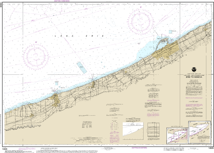 NOAA Nautical Chart 14828: Erie to Geneva