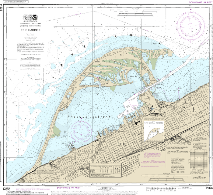 NOAA Nautical Chart 14835: Erie Harbor