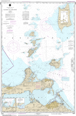 NOAA Nautical Chart 14844: Islands in Lake Erie;Put-In-Bay