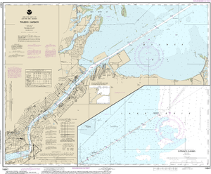 NOAA Nautical Chart 14847: Toledo Harbor;Entrance Channel to Harbor
