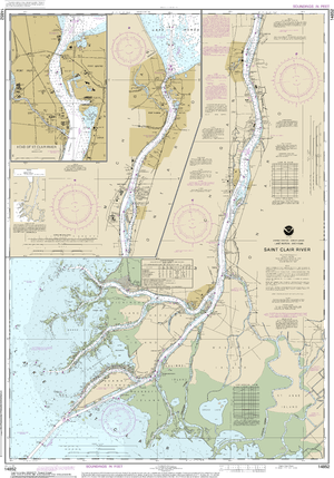 NOAA Nautical Chart 14852: St. Clair River;Head of St. Clair River