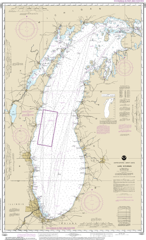 NOAA Nautical Chart 14901: Lake Michigan (Mercator Projection)