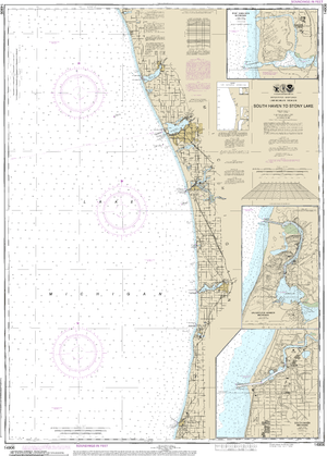 NOAA Nautical Chart 14906: South Haven to Stony Lake;South Haven;Port Sheldon;Saugatuck Harbor