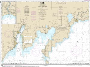 NOAA Nautical Chart 14908: Dutch Johns Point to Fishery Point, including Big Bay de Noc and Little Bay de Noc;Manistique
