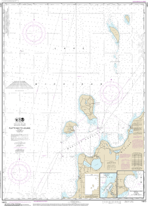 NOAA Nautical Chart 14912: Platte Bay to Leland;Leland;South Manitou Harbor