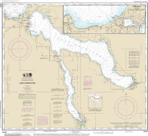 NOAA Nautical Chart 14942: Lake Charlevoix;Charlevoix, South Point to Round Lake