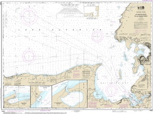 NOAA Nautical Chart 14962: St. Marys River to Au Sable Point;Whitefish Point;Little Lake Harbors;Grand Marais Harbor