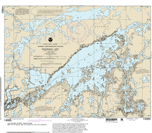 NOAA Nautical Chart 14985: Saganaga Lake