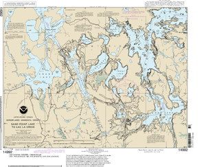 NOAA Nautical Chart 14992: Sand Point Lake to Lac la Croix, including Crane Lake and Little Vermilon Lake