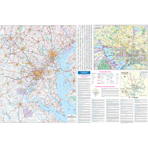 Washington Dc 50 Mile Vicinity, Dc Wall Map - Large Laminated