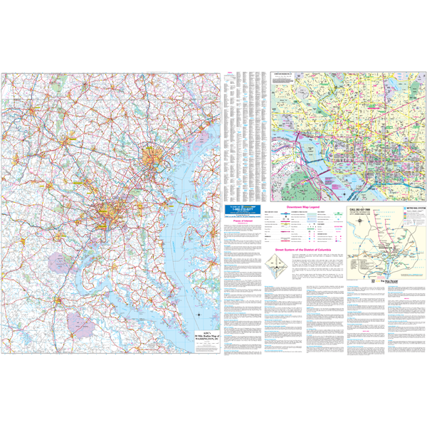 Washington DC 50 Mile Vicinity, DC Wall Map