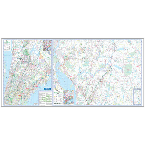 Westchester County, NY Wall Map