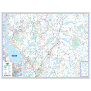 Upper Westchester County, Ny Wall Map - Large Laminated