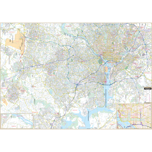 Northern Va Fairfax Arlington County, VA Wall Map