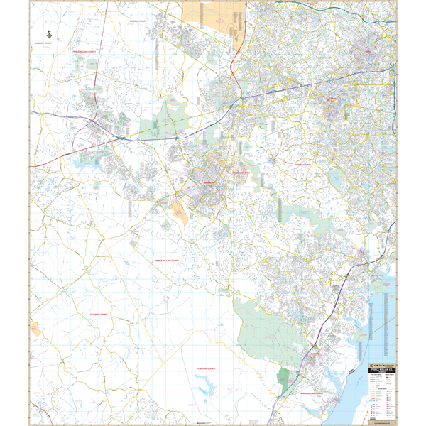 Prince William County, VA Wall Map
