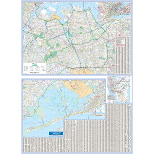 Queens, Ny Wall Map - Large Laminated