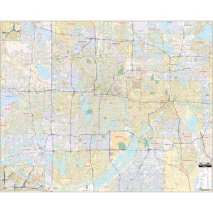 Minneapolis And St Paul, Mn Wall Map - Large Laminated