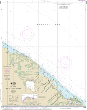 NOAA Nautical Chart 16042: Griffin Pt. and approaches