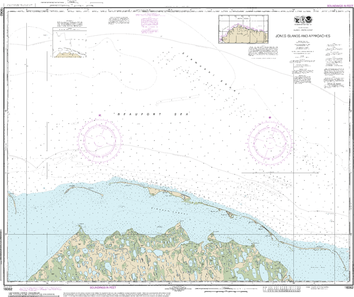 NOAA Nautical Chart 16062: Jones Islands and approaches