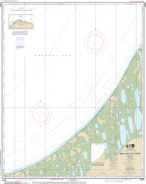 NOAA Nautical Chart 16083: Skull Cliff and vicinity