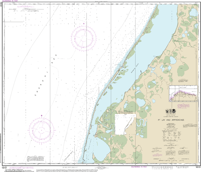 NOAA Nautical Chart 16101: Pt. Lay and approaches