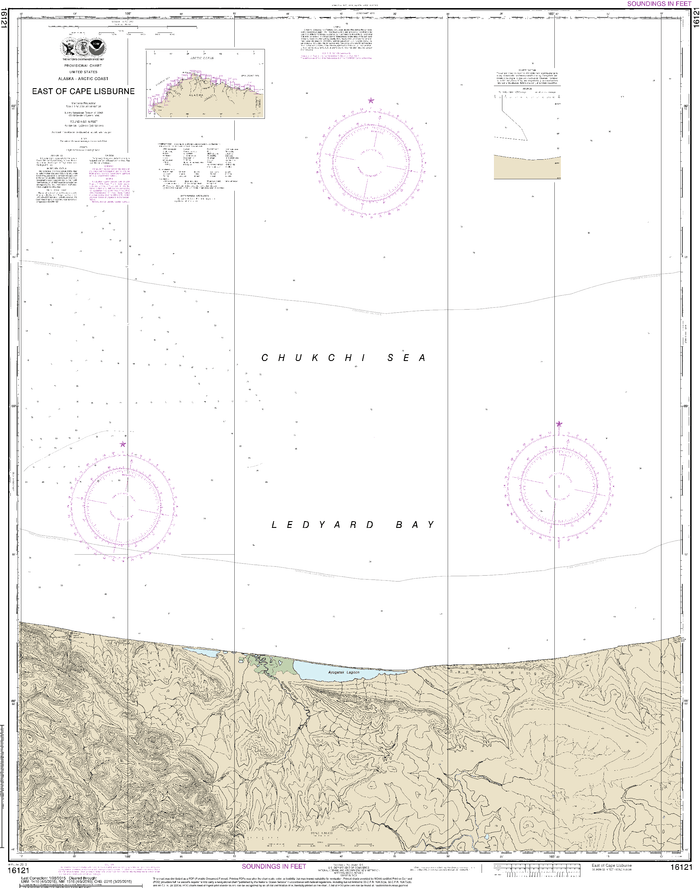 NOAA Nautical Chart 16121: East of Cape Lisburne