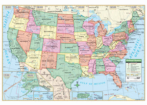 Kappa Map Group  Us Primary Mounted Wall Map Framing Available