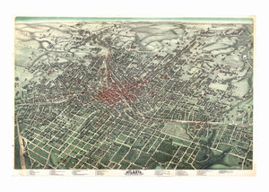 Kappa Map Group  Atlanta Ga 1892 Historical Print Mounted Wall Map Framing Available
