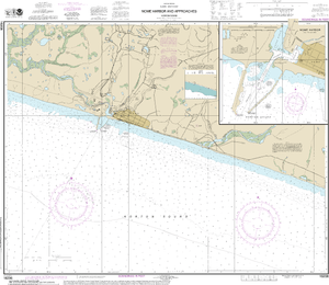 NOAA Nautical Chart 16206: Nome Hbr. and approaches, Norton Sound;Nome Harbor