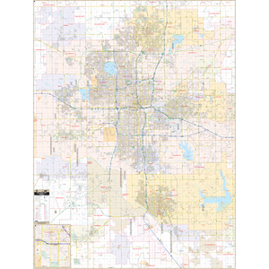 Oklahoma City, Ok Wall Map - Large Laminated